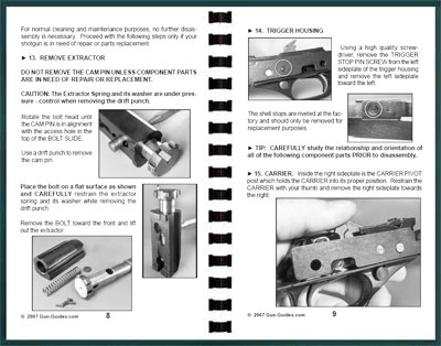 Example Shotgun GunGuide Pages