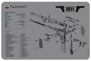 1911 Gun Cleaning Mat in Grey