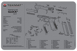 Glock Gen4 Gun Cleaning Mat in Grey