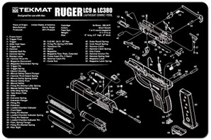 Ruger LC9 & LC380 Gun Cleaning Mat