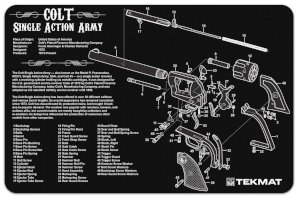Colt Single Action Army Revolver Gun Cleaning Mat