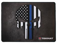 Thin Blue Line Punisher Police Support Ultra Premium Gun Cleaning Mat