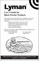 Lyman User's Guide for Black Powder Products 6985043