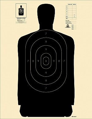 B 21 Police Shooting Targets Official NRA Si...